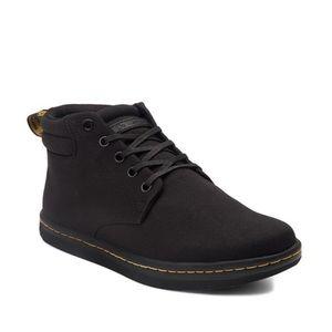 Dr Martens Maleke Canvas Chukka Boots Black Sz 10